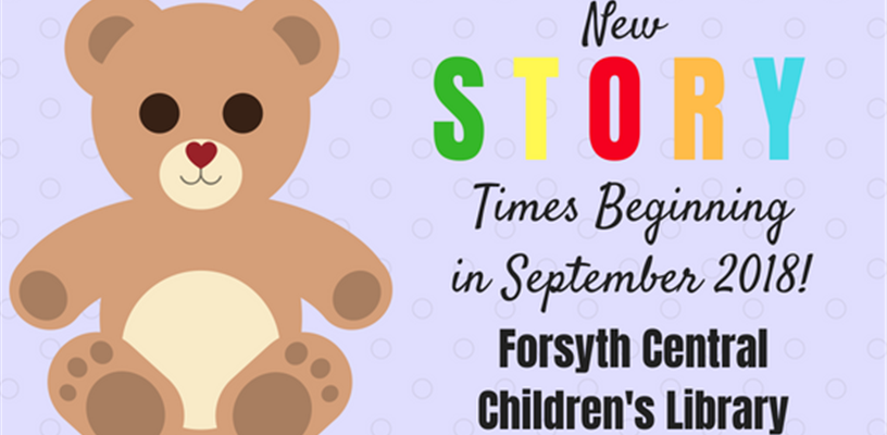 New Story Times at Central Library!