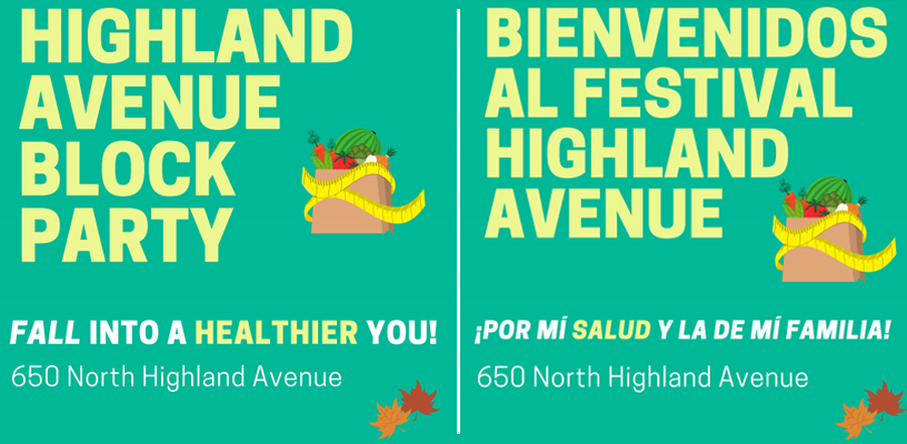 Highland Avenue Block Party on Oct. 26 to Offer Free Food, Health Screenings and Medicaid Enrollment