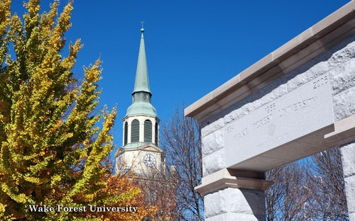 Wake Forest University is a private, coeducational university founded in 1834.